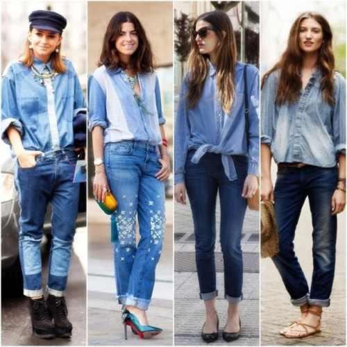 Все виды джинсовой одежды
