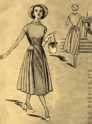 Женского платья 50-х годов