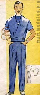 Мужской костюм мода 50 х годов