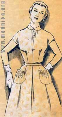 платье из хлопка мода 50-х